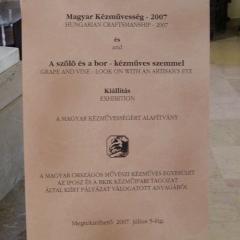 2007_Magyar Kézművesség 2007 - Mezőgazdasági Múzeumtabla