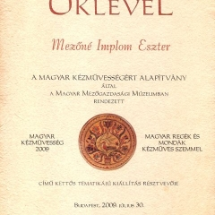 2009_Magyar_kéművesség_oklevel