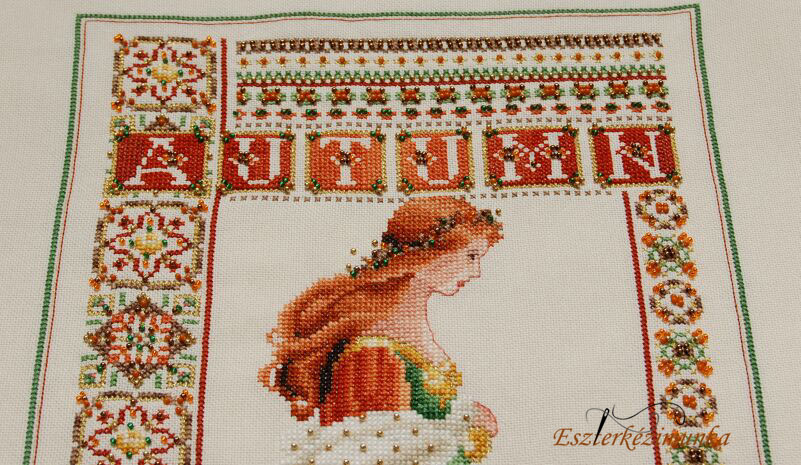 Celtic Autumn cross stitch - keresztszemes