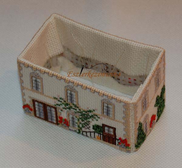3D keresztszemes ház készülése