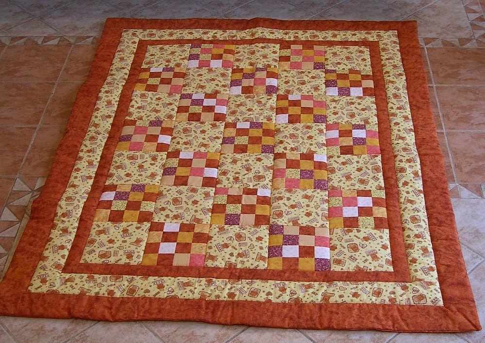 Barna sárga macis foltvarrás szőnyeg