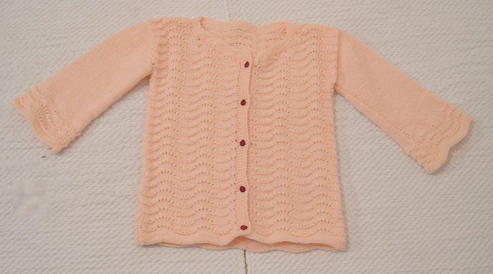 Rózsaszín csipkés kardigán katicás gombokkal