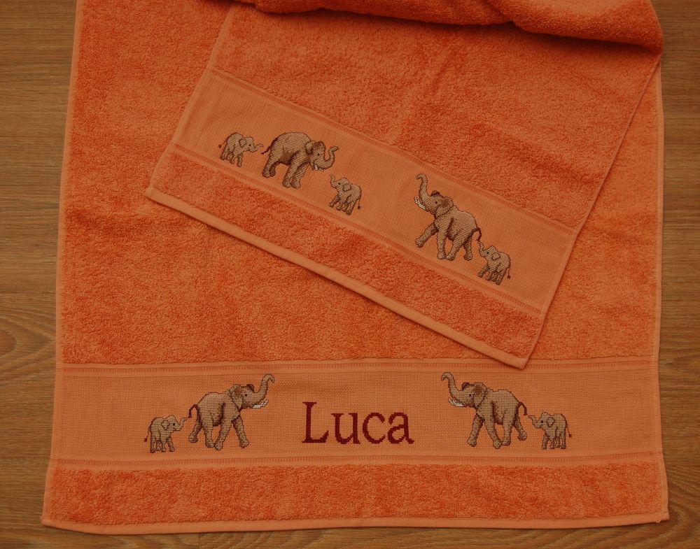 Luca - keresztszemes fürdőlepedő és törölköző