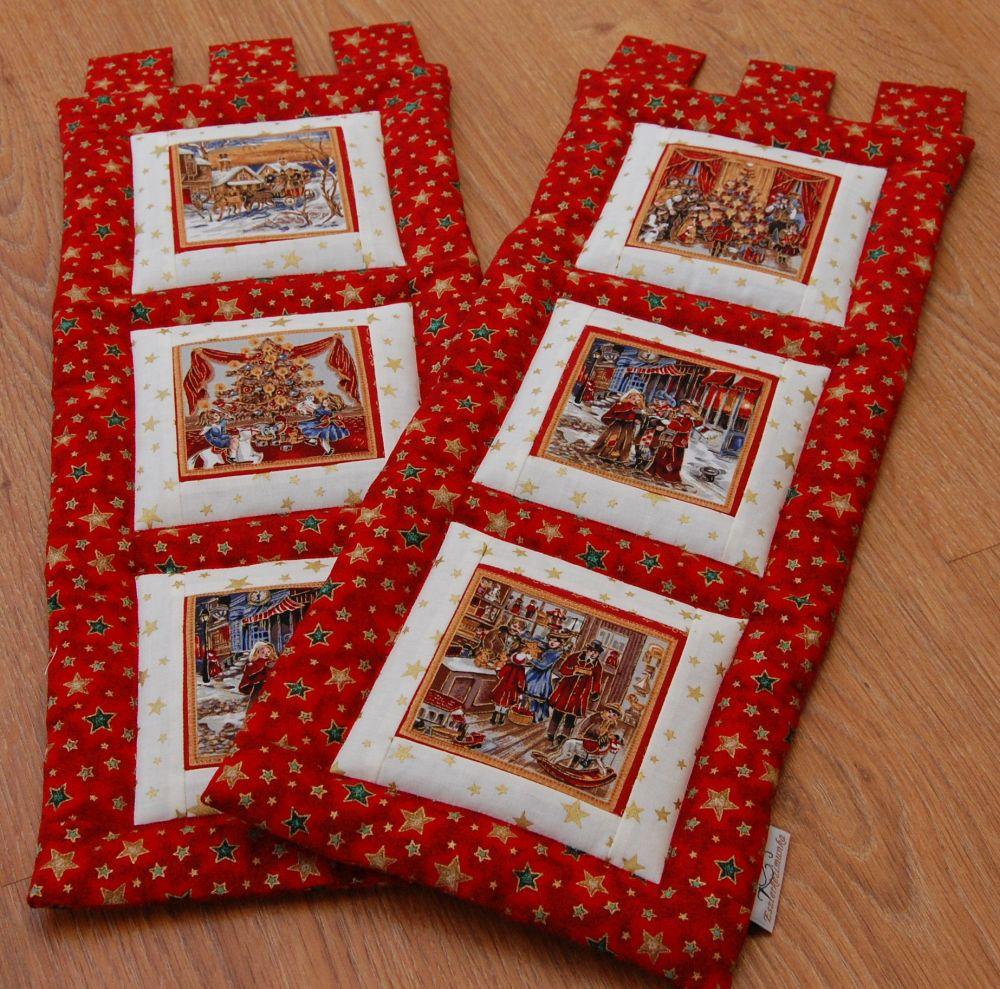 Karácsonyi kis képecske - három ablakos -1