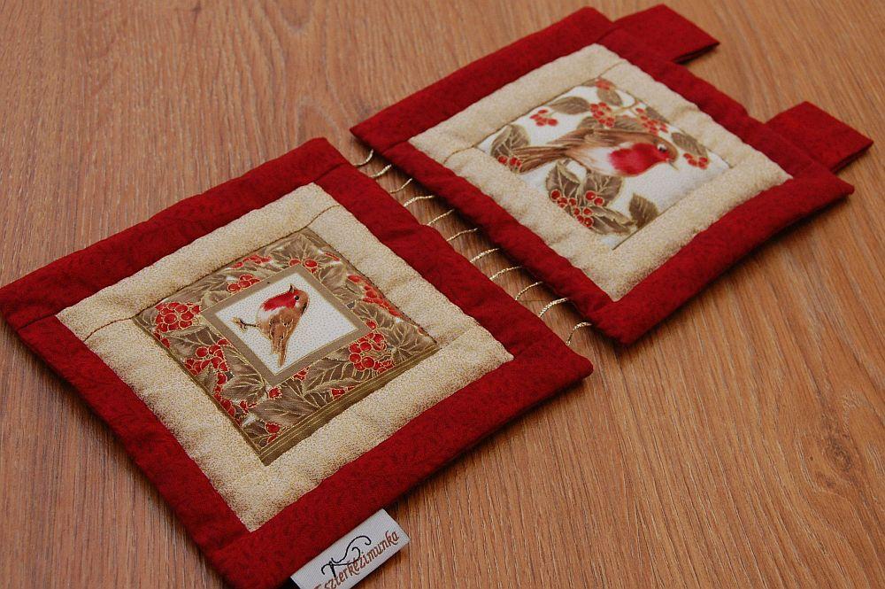 Karácsonyi kis képecske - két ablakos madaras