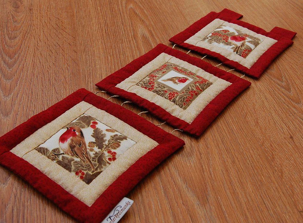 Karácsonyi kis képecske - három ablakos madaras