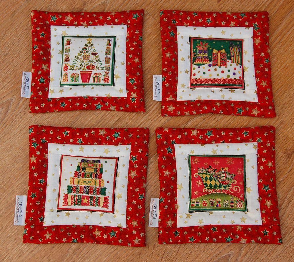 Karácsonyi kis képecske - egy ablakos - 4 db