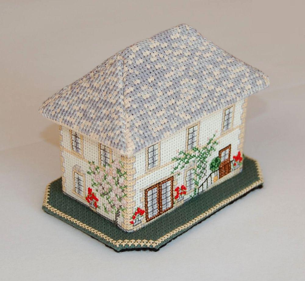 Vidéki kúria - 3D keresztszemes