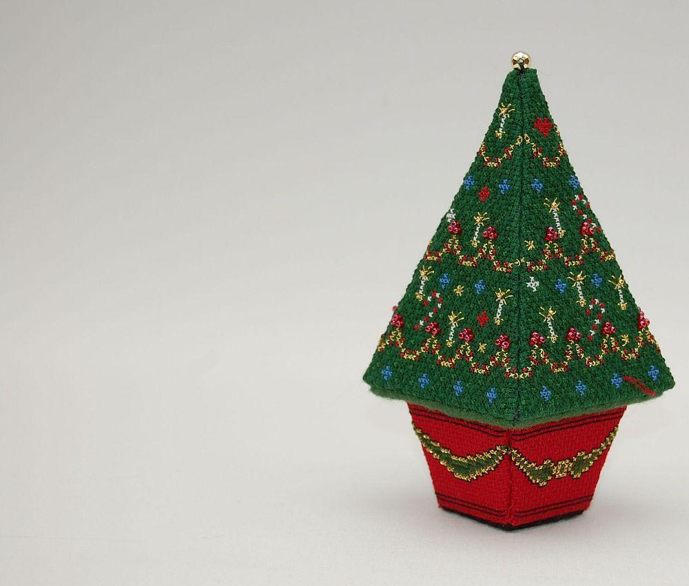 3D keresztszemes fenyőfa