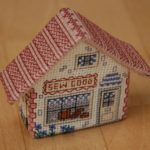Sewing shop – 3D cross stitching fridge magnet